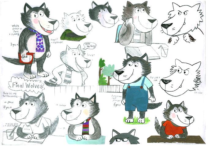 Rough Character Sketches Rough Character Sketches of